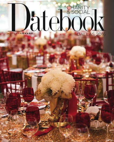 Modern Luxury Charity and Social Datebook